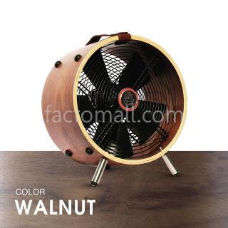 """พัดลมไม้ 12"""" WOOD STAND Walnut"""