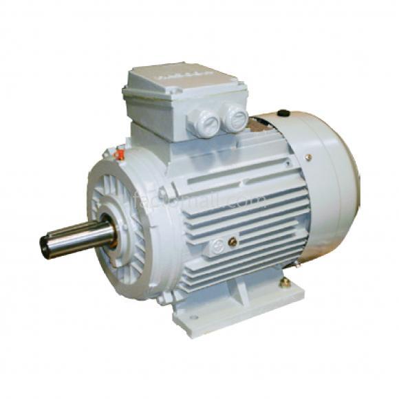 มอเตอร์ Hascon 0.55kW3/4HP2Pole 2800rpmแบบขาตั้ง (B3) อะลูมิเนียมเฟรม 3phase 220/380V