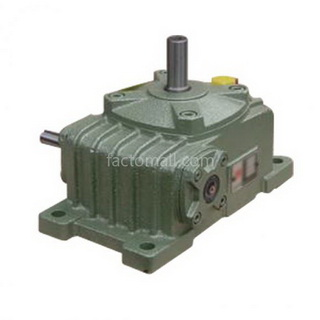 เกียร์มอเตอร์ Kimpo worm gear KVA(PO-RU) ขนาด50(12) อัตราทด10 1/4HP แบบเหล็กหล่อ